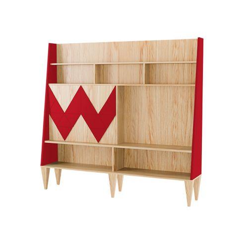 """Стенка для гостиной """"Woo Wall"""" Красная"""