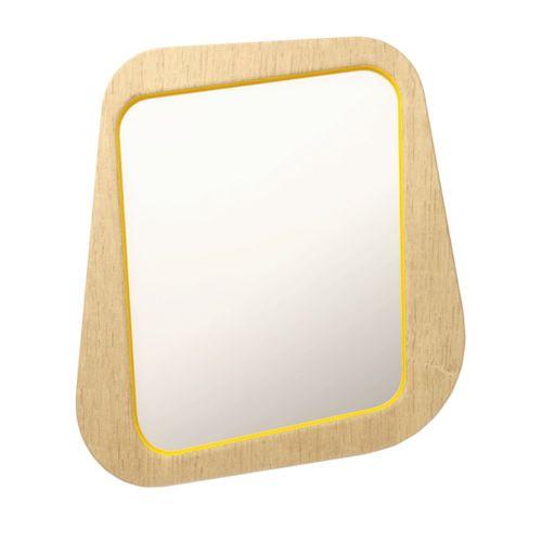 Зеркало Woodi малое в светлом шпоне