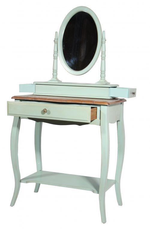 Макияжный столик с овальным зеркалом ST9321AB
