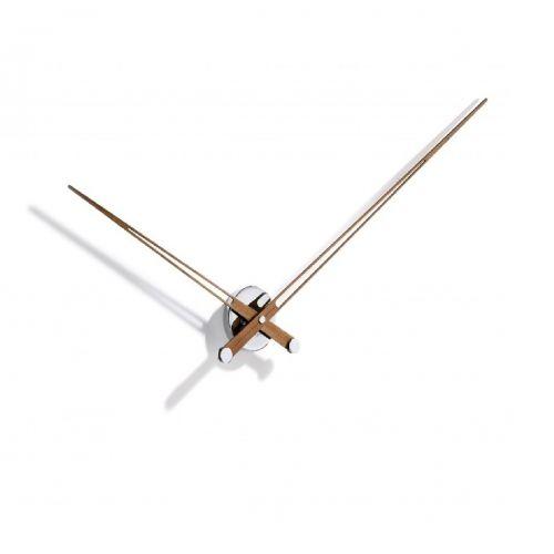 Часы Nomon AXIOMA N, chrome/walnut, d105см