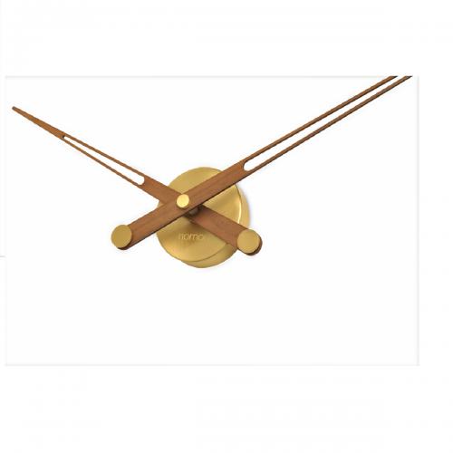 Часы Nomon AXIOMA GOLD N, полированная латунь/орех, d105см