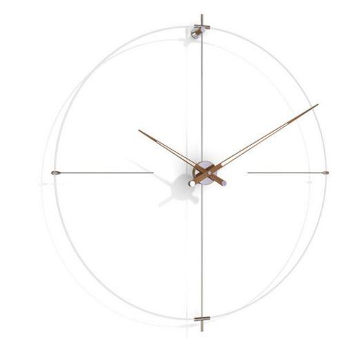 Часы Nomon BILBAO N(white/walnut), d110см