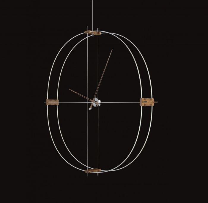 Часы Nomon Delmori, white/walnut, d140cm