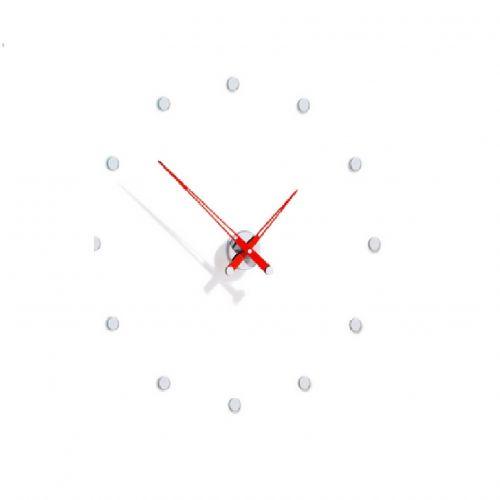 Часы Nomon Rodon 12 i RED, chrome, d70 см