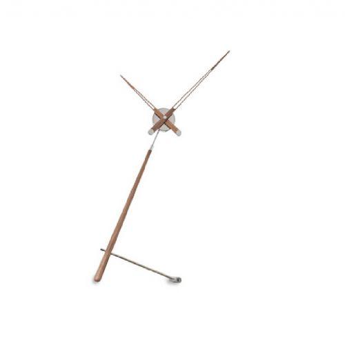 "Часы Nomon Puntero N WALNUT, хром/дерево ""орех"", D74 см."