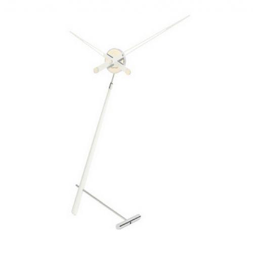 Часы Nomon Puntero L WHITE, хром/белый лак, D74 см