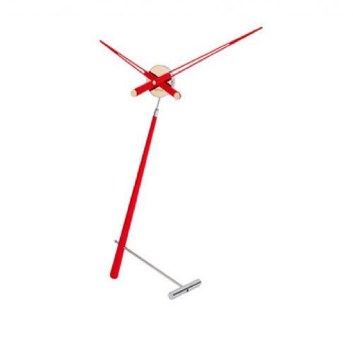 Часы Nomon Puntero L RED, хром/красный лак, D74 см