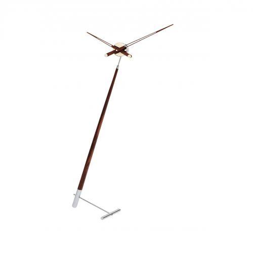 """Часы Nomon Pisa N, хромированная сталь/дерево""""орех"""", d73 см, h150cm"""