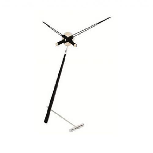Часы Nomon Puntero L BLACK, хром/черный лак, D74 см.