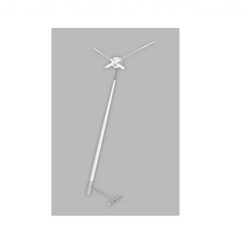 Часы Nomon Pisa L WHITE, хромированная сталь/белый лак, d73 см, h150cm
