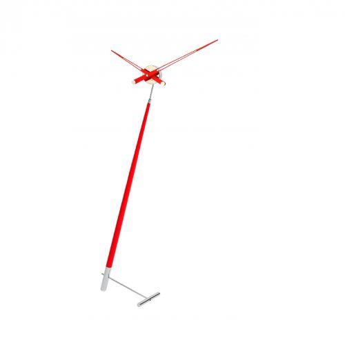 Часы Nomon Pisa L RED, хромированная сталь/красный лак, d73 см, h150cm