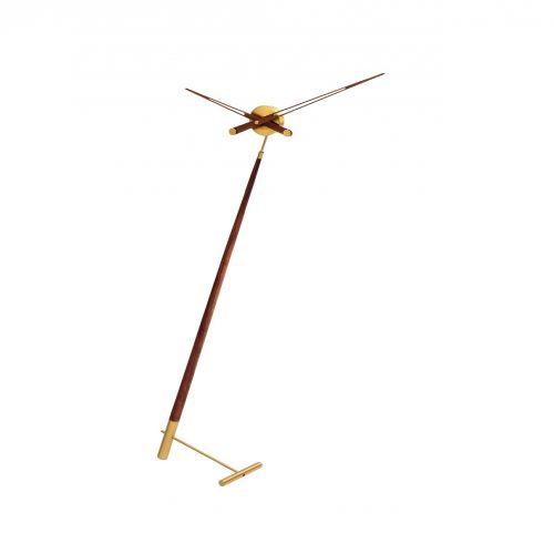 """Часы Nomon Pisa Gold N, латунь/дерево """"орех"""", d73 см, h150cm"""
