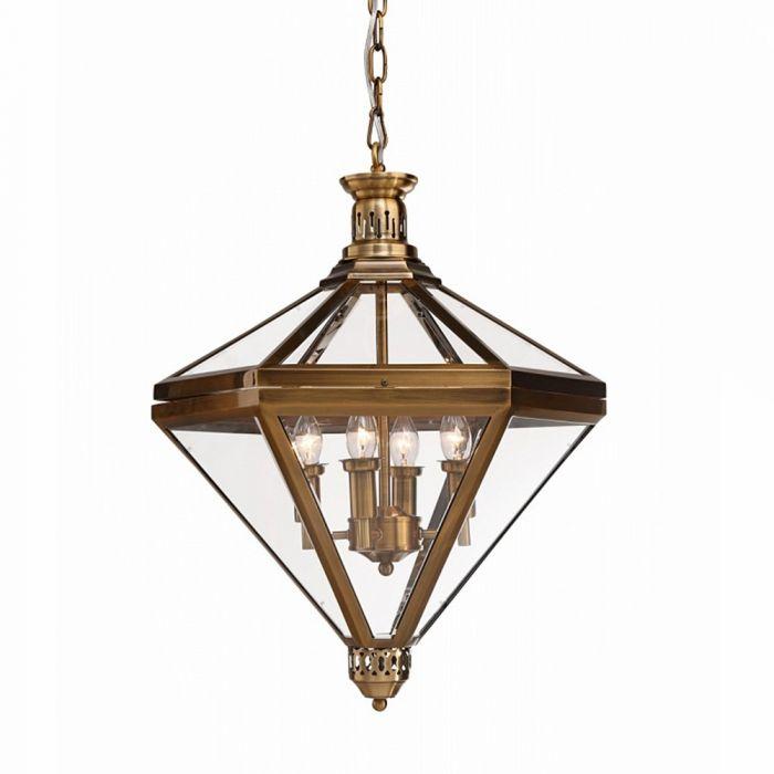 Подвесной светильник Mistery 4 ant.brass