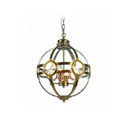 Подвесной светильник Hagerty 3 ant.brass