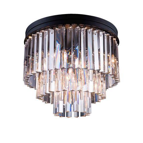 Потолочный светильник Odeon 6/P black/clear
