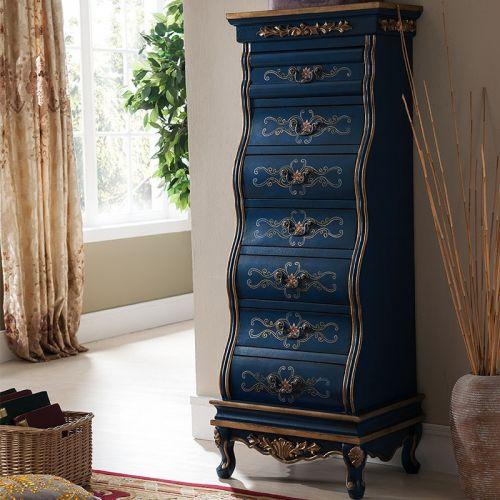 Высокий комод Cilan, синий
