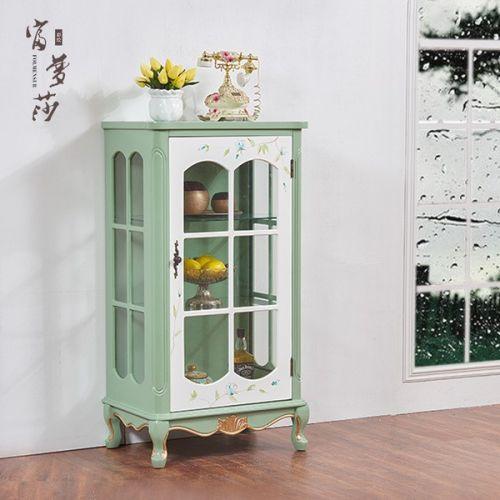 Витрина с одной дверью Fleur chantante, Светло-зеленая