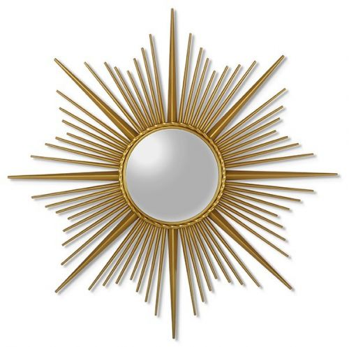 Зеркало-солнце в металлической раме Cassiopeia