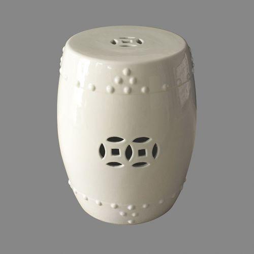Табурет керамический  TJC10, Белый