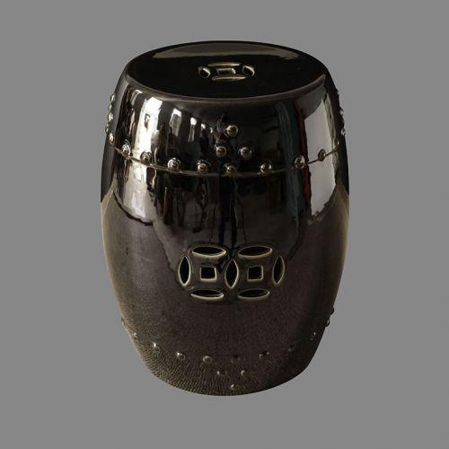 Табурет керамический  TJC10, Черный