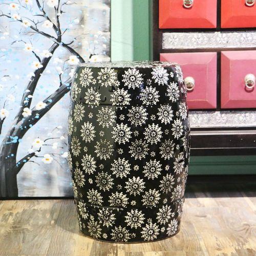 Табурет керамический  TCD954, Черный с узором