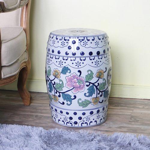 Табурет керамический  QHD012, Цветок