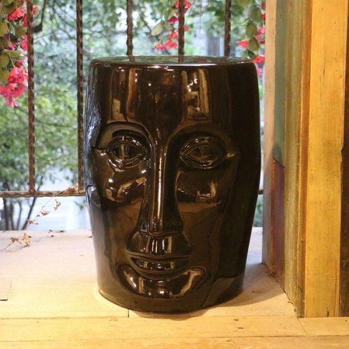 Табурет керамический  Лицо, Черное