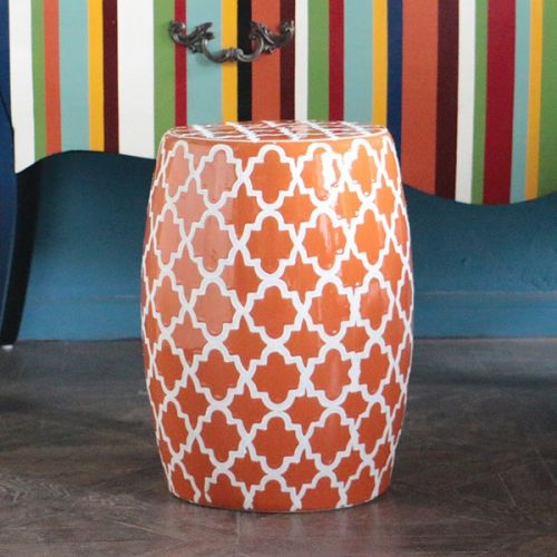 Керамический табурет TCD088, Оранжевый