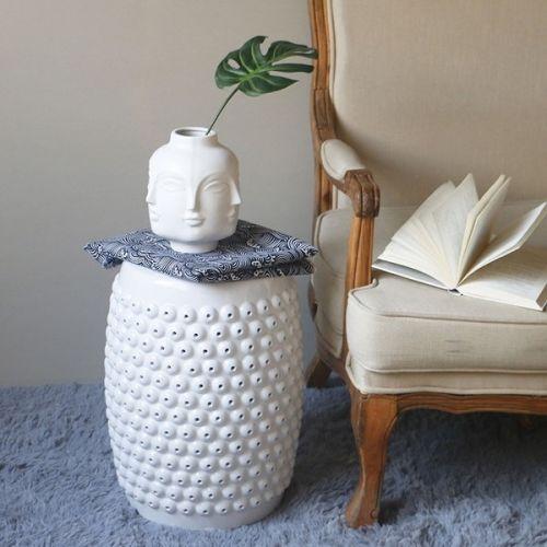 Керамический табурет Бию, Белый