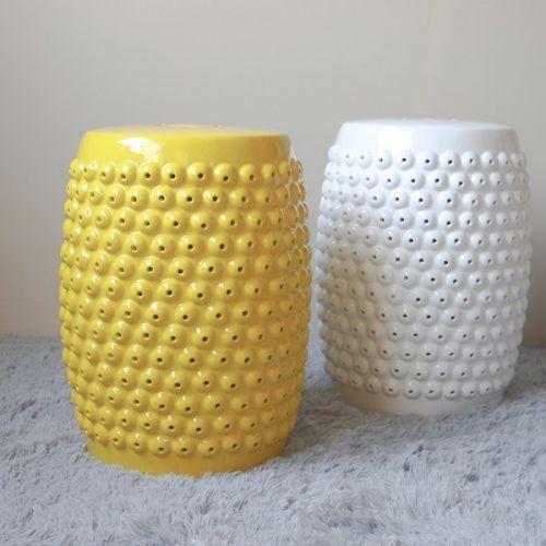 Керамический табурет Бию, Желтый