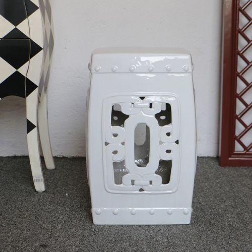 Керамический табурет TCD081, Белый