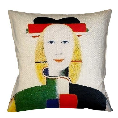 Арт-подушка «Девушка с гребнем в волосах»