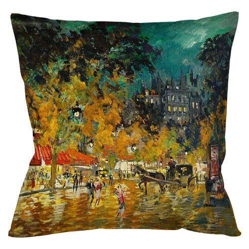 Арт-подушка «Ночной Париж»