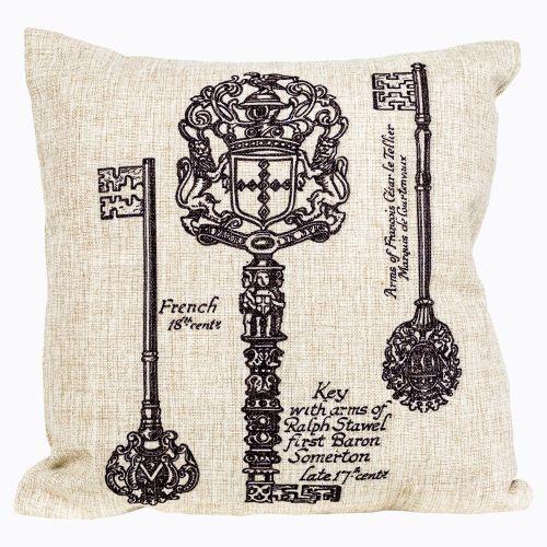 Интерьерная подушка «Старинная гравюра», версия 11