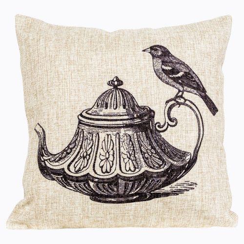 Интерьерная подушка «Старинная гравюра», версия 12