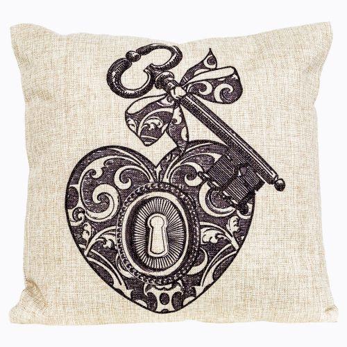 Интерьерная подушка «Старинная гравюра», версия 15