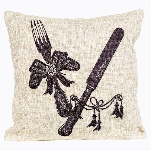 Интерьерная подушка «Старинная гравюра», версия 18