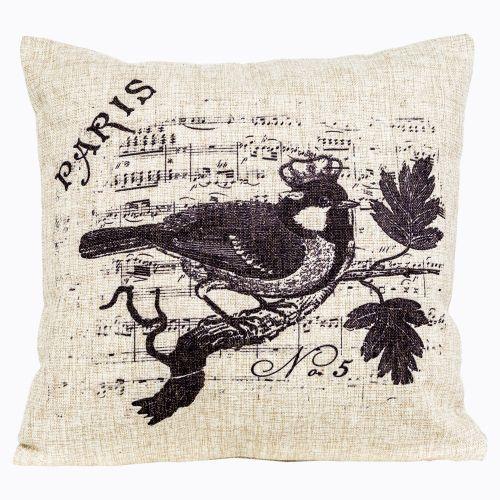 Интерьерная подушка «Старинная гравюра», версия 19