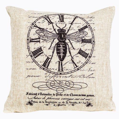 Интерьерная подушка «Старинная гравюра», версия 7