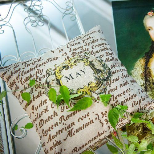Декоративная подушка «12 месяцев цветения», версия  Май