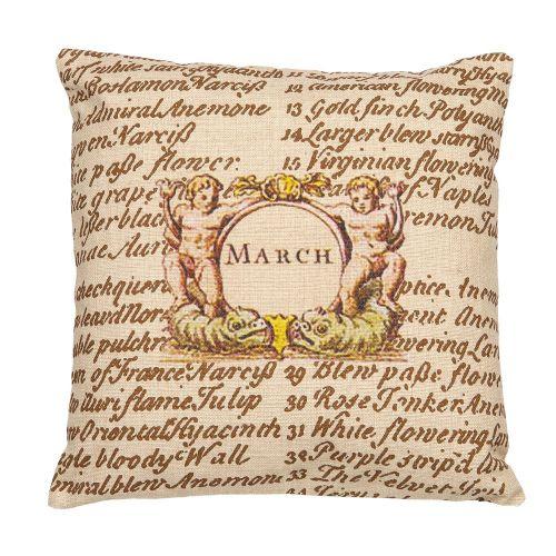 Декоративная подушка «12 месяцев цветения», версия Март