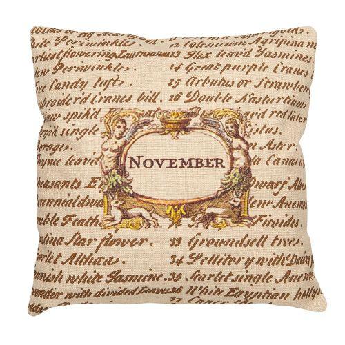 Декоративная подушка «12 месяцев цветения», версия Ноябрь