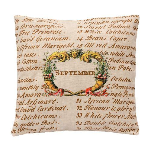 Декоративная подушка «12 месяцев цветения», версия Сентябрь