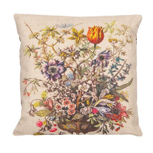 Декоративная подушка «12 месяцев цветения», версия Февраль