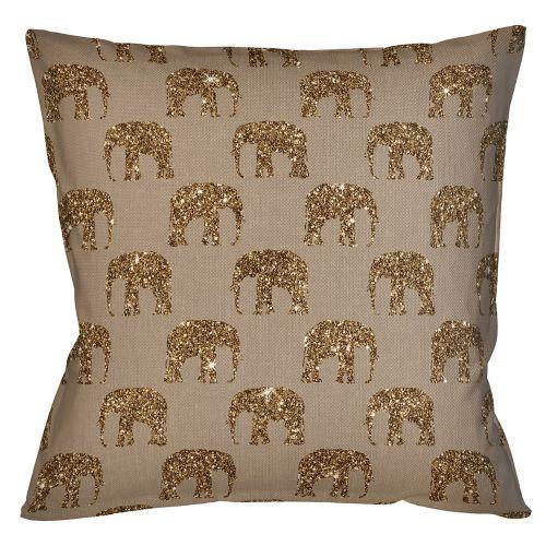 Интерьерная подушка «Группа слонов» (искра)