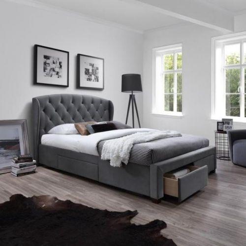 Кровать Halmar SABRINA (серый)