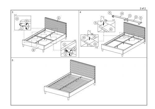 Кровать Halmar BETINA (серый) 160/200