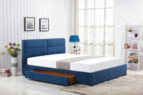Кровать Halmar MERIDA (синий) 160/200