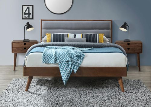 Кровать Halmar ORLANDO 160 (серый/орех)