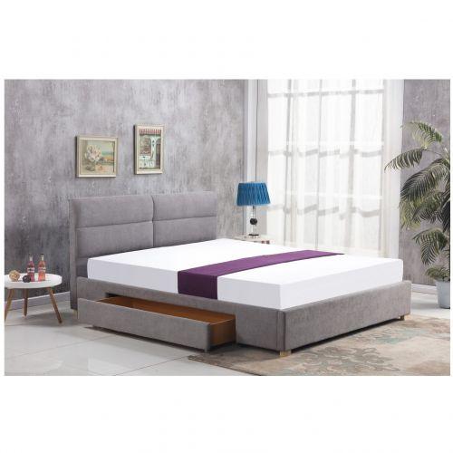 Кровать Halmar MERIDA (светло-серый) 160/200